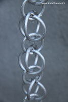 Rain chain - Double Loops™ aluminum  #3130-AL