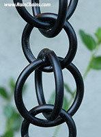 Rain Chain -Double Loops Black #3130-2-BLK