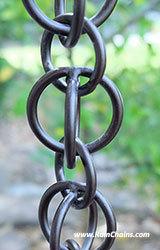 Rain Chain - Double Loops Bronze  #3130-2-BRZ