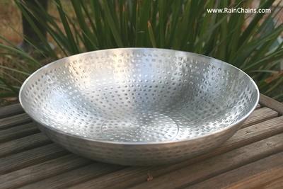 Hand Hammered Aluminum Dish #3145-AL