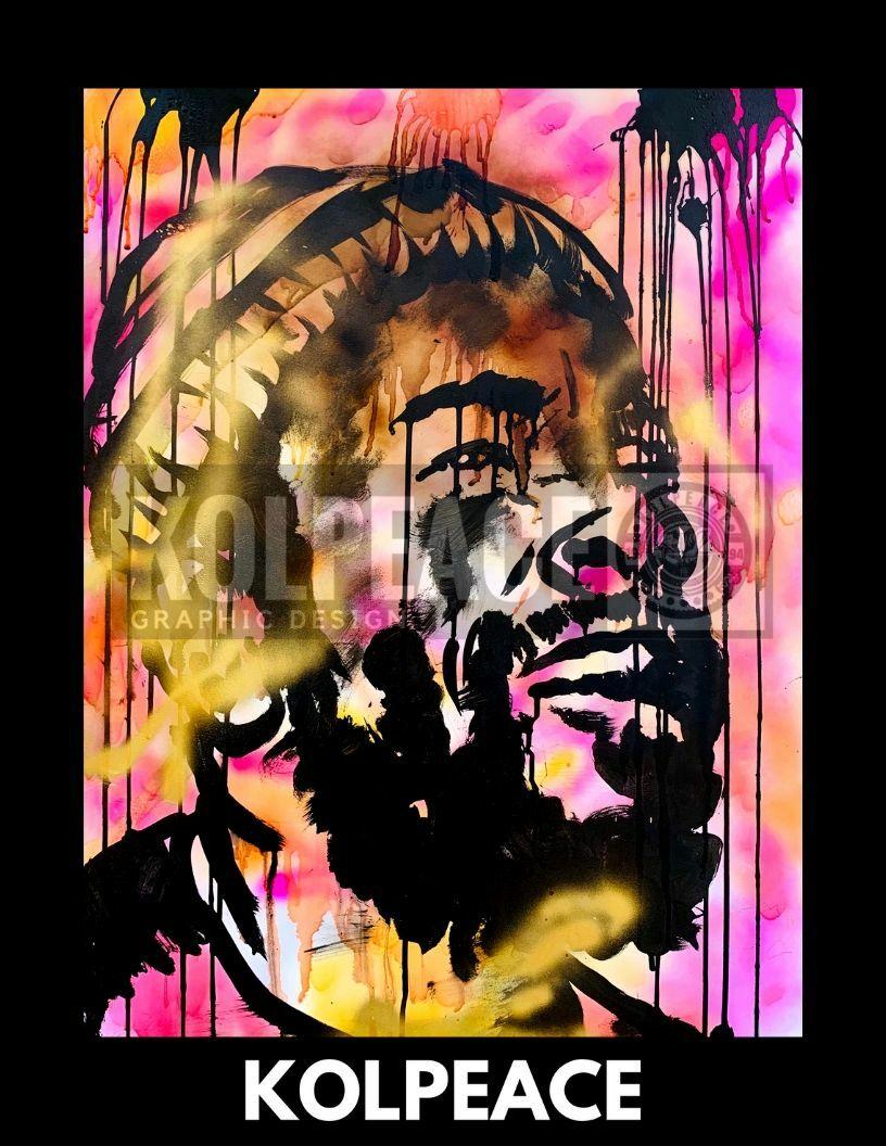 Marvin Gaye tribute | KOLPEACE PRINT 00034