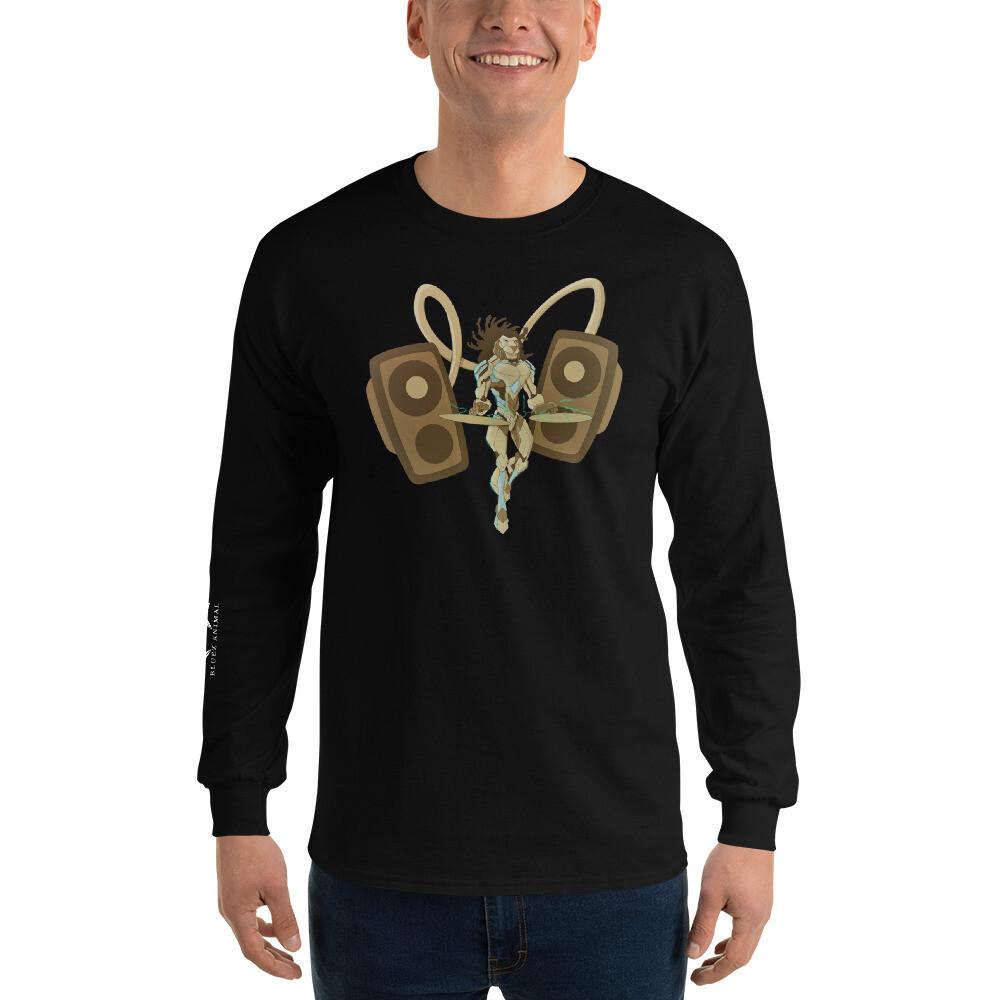 Cyborg Lion Dj Long Sleeve T-Shirt