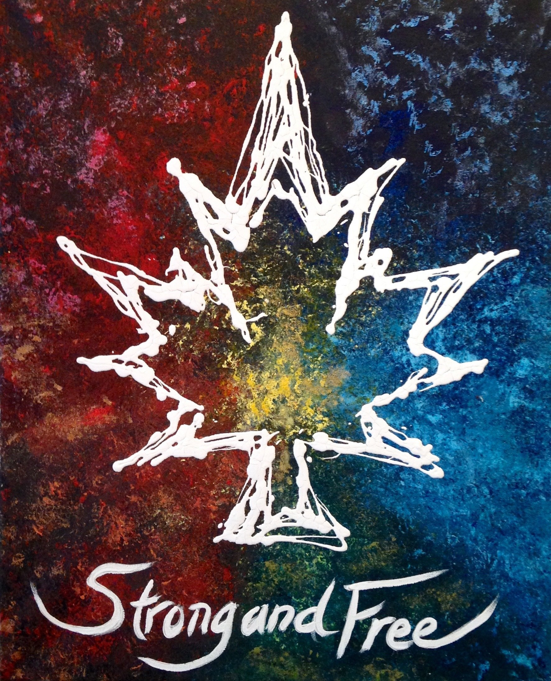 Canada Strong and Free - Abstract Art Print 00014