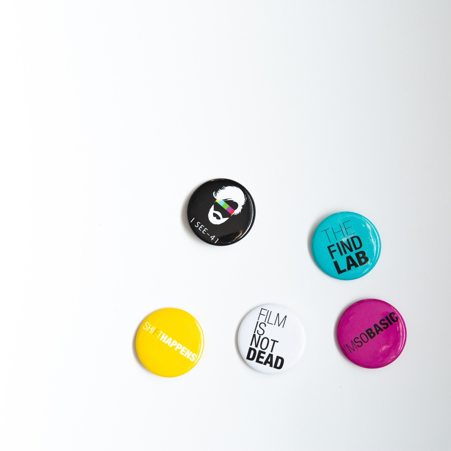 The hippest set of film shooting pins!