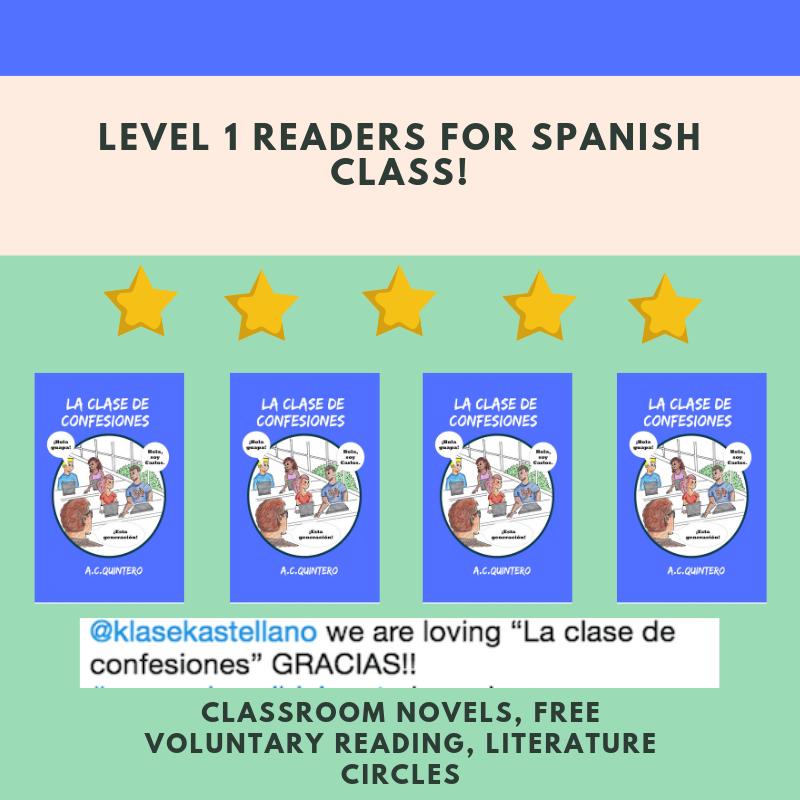 4 Novels+ FVR Reading Kit La clase de confesiones Level 1+