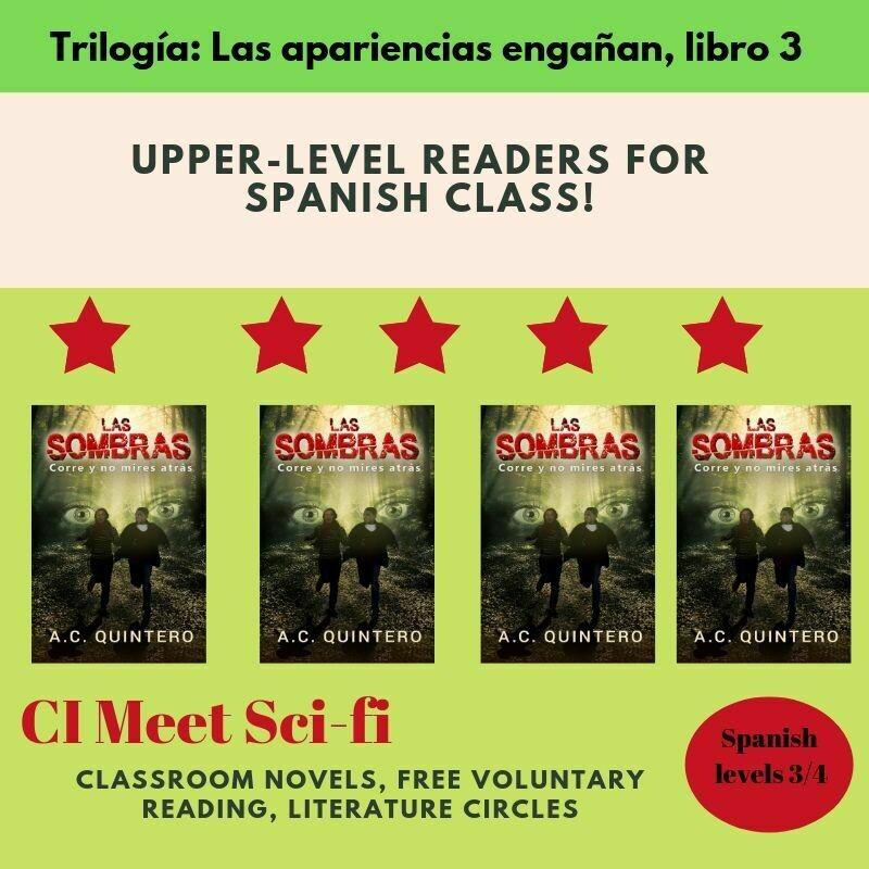 Las sombras Spanish Reader Level 3+ (4 Novels)