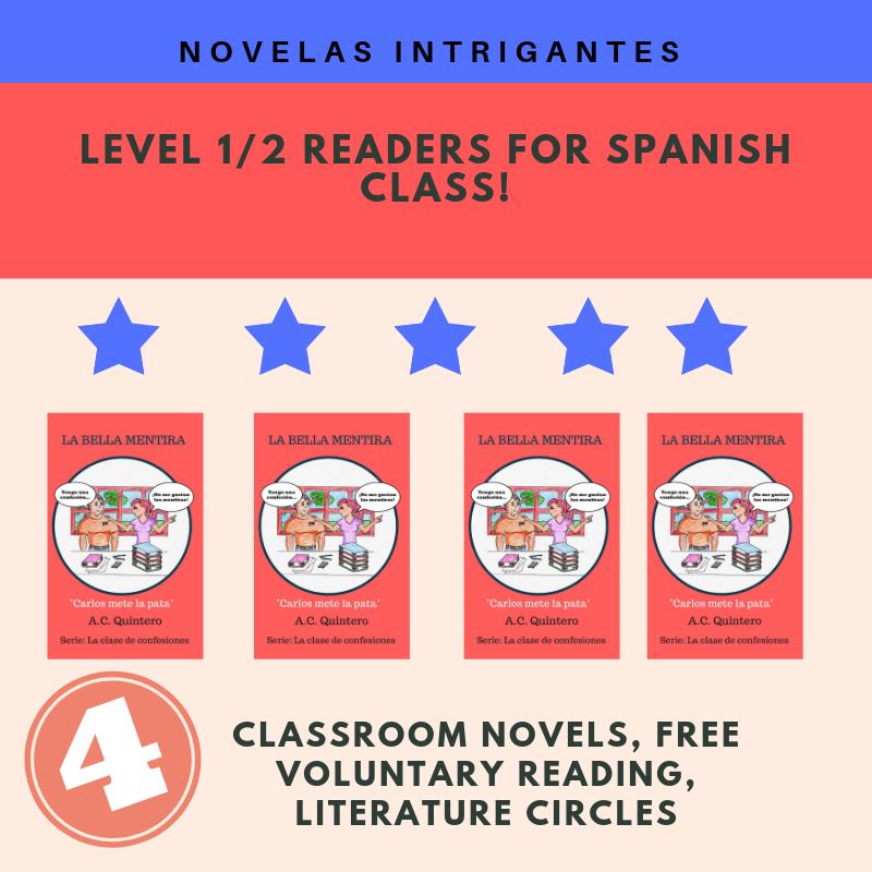 4 Novels: La Bella Mentira + Teaching Materials