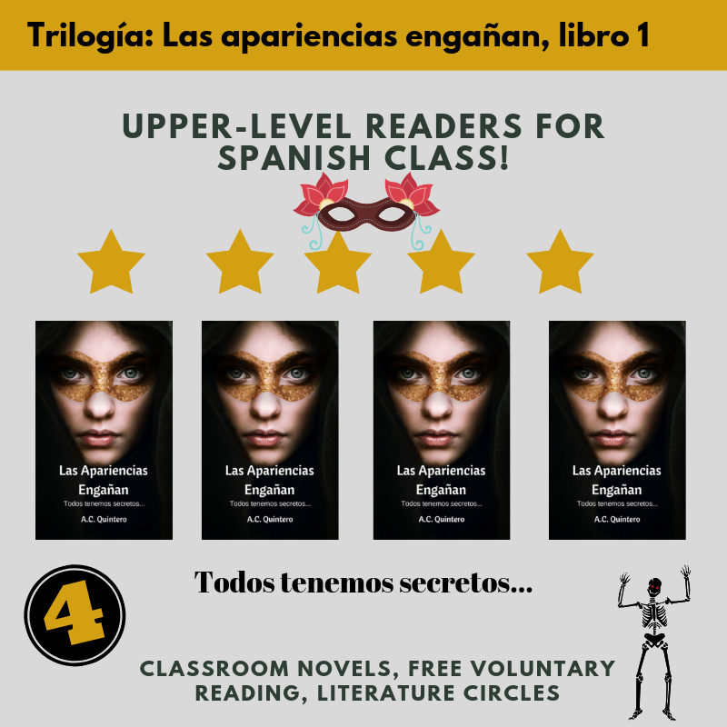 4 Novels+FVR Reading Kit- Las apariencias engañan Level 3+