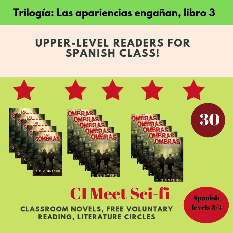 Las sombras Spanish Reader Level 3+ ( 30 Novels)