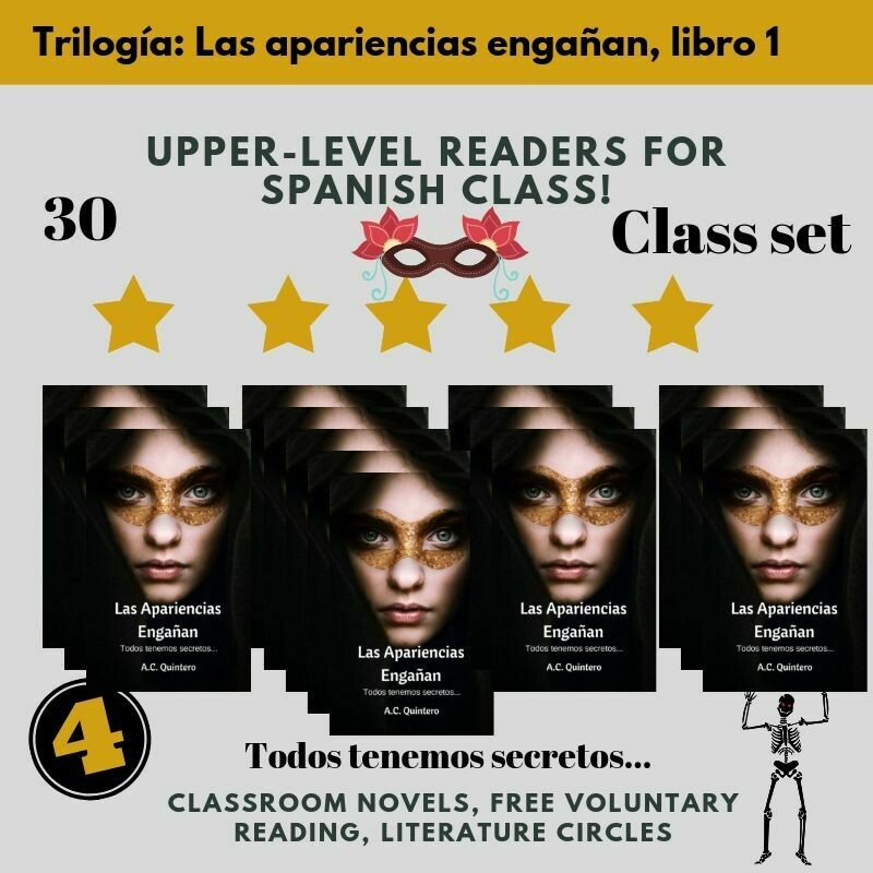 30 Novels + Student Materials Las apariencias engañan Level 3+ (Free Shipping)