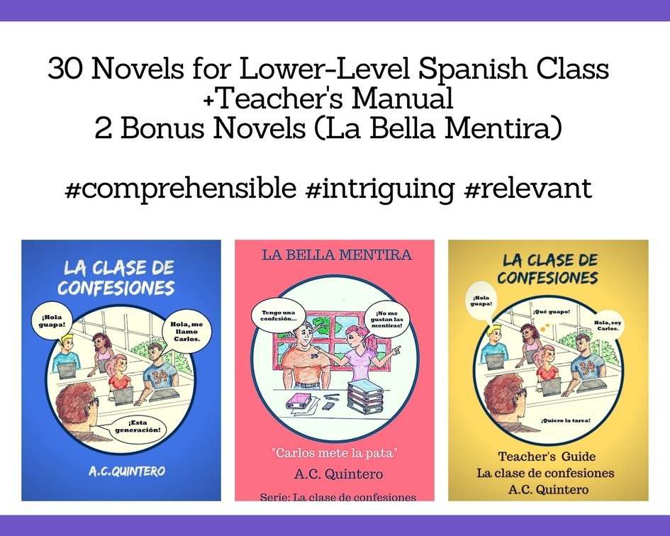Sale! 30 Novels+ 2 Bonus Novels (La bella mentira) Teacher's Manual  La clase de confesiones (Level 1+) Free Shipping- Bonus Novels