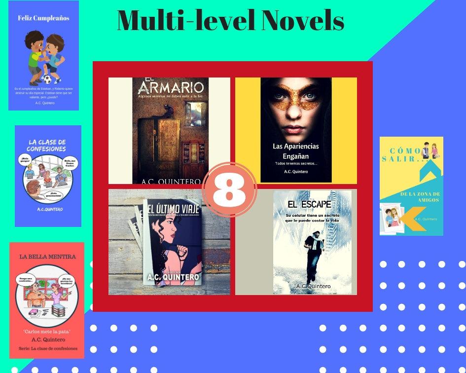 8 Novels: Spanish Multi-level Readers for FVR+FVR Reading Kit-Levels 1-4