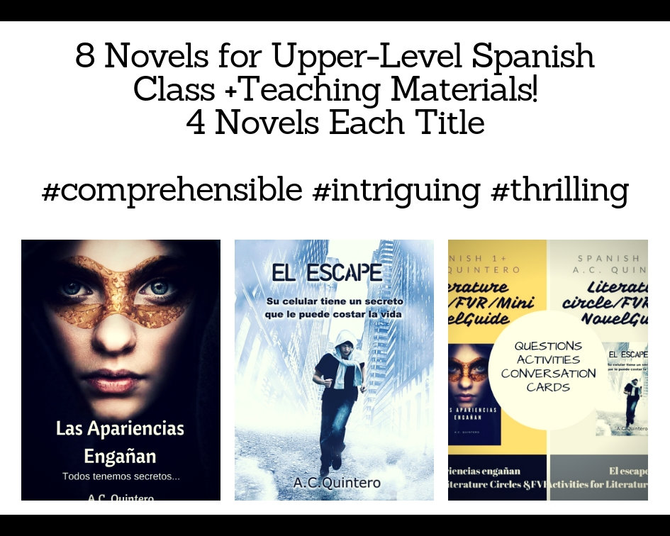 8 Novels-FVR Reading/Lit Circles Kit- Las apariencias engañan/El escape Level 3+