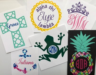 Decals and Designs - From personalized names & monograms to greek