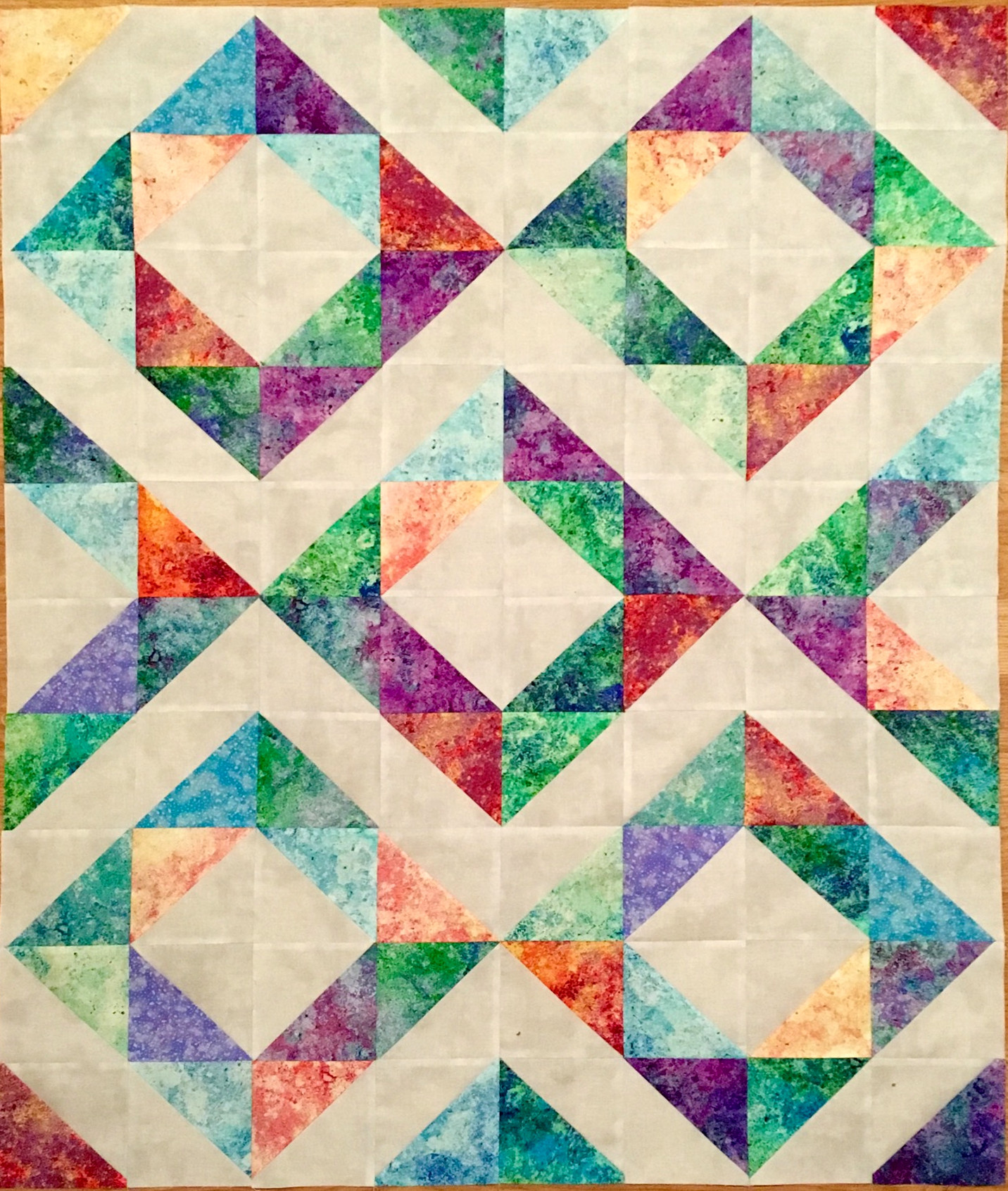 Dancing Diamonds, Intermediate Quilting 54883