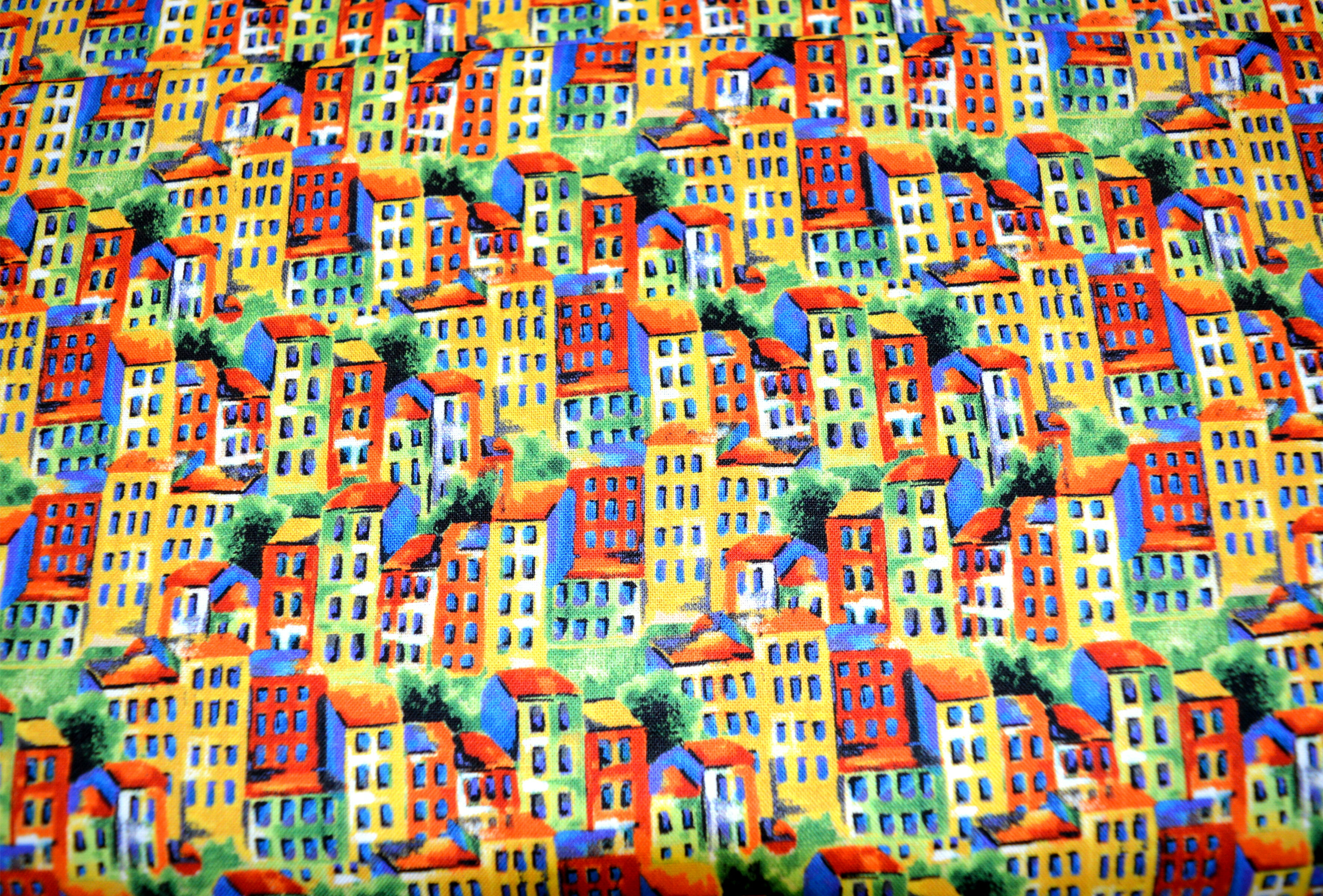 Fat Quarter - Row House Fabric 54913