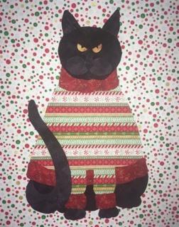 Christmas Cat - Applique 54917