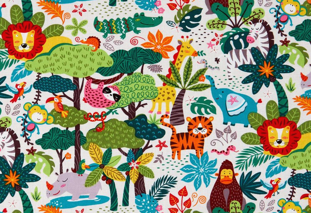 Allover Print - Into the Wild by Oasis Fabrics ABULJB32