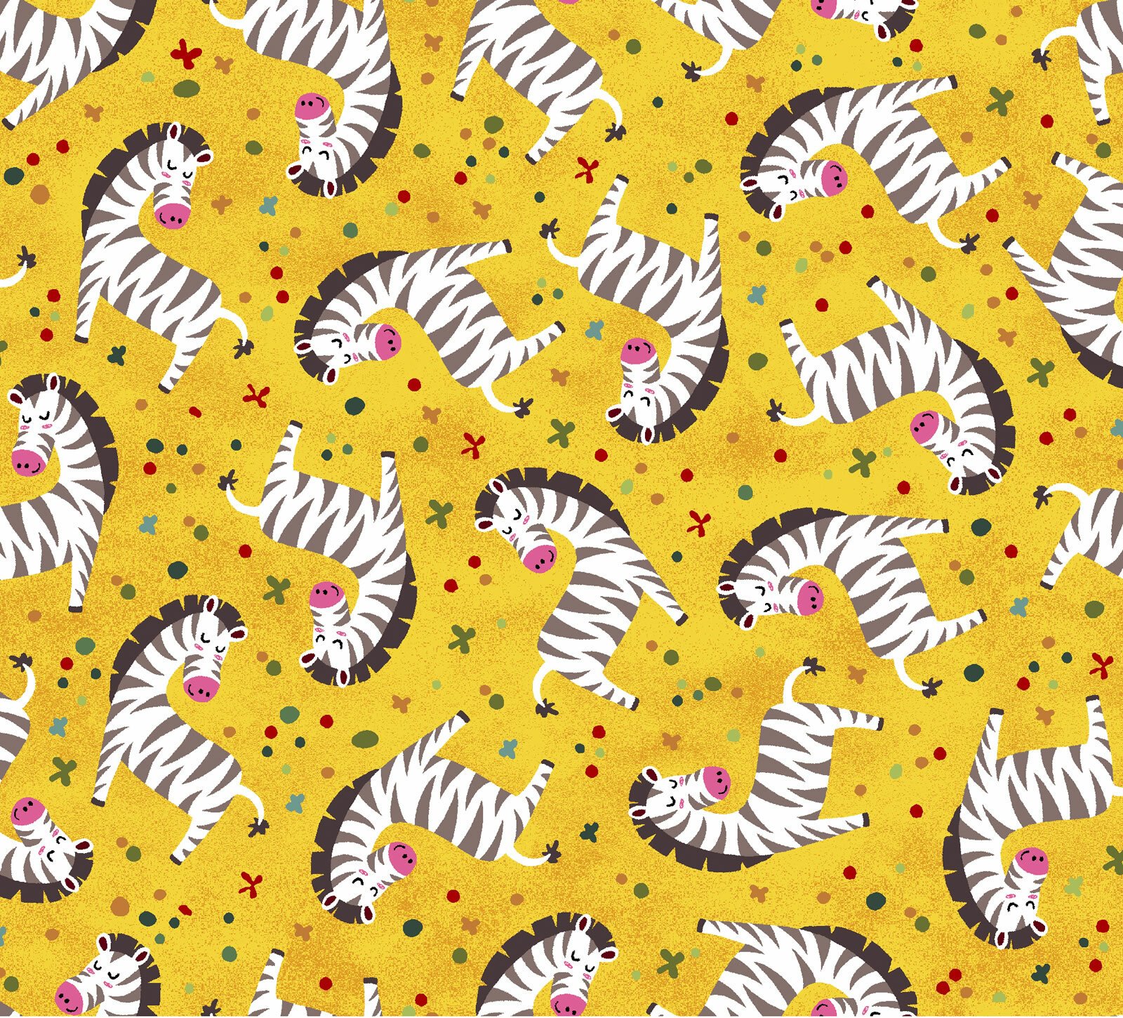 Yellow Zebras - Into the Wild by Oasis Fabrics J96P3YXS