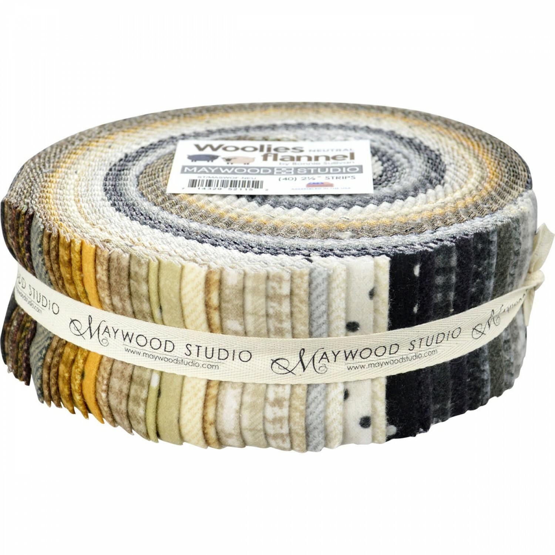 Woolies Flannel Jelly Roll  - Neutral Q4CR2KWJ
