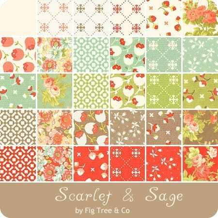 Scarlet & Sage Charm Pack - Fig Tree VHD6SRWD