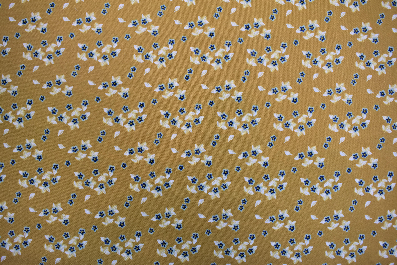 Flowers Yellow Background - Berry Blossom - Camelot Fabrics WSXPTPX9