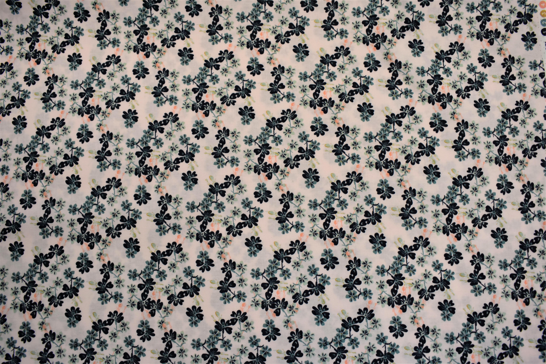 Blue Flowers - Berry Blossom - Camelot Fabrics PBW6853U