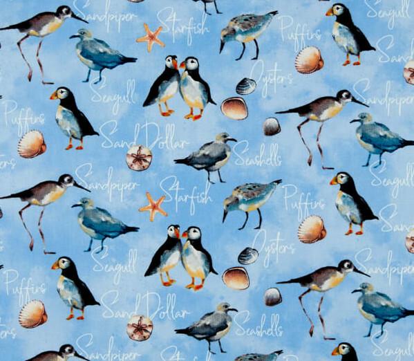 Blue Shore Birds - Northcott Fabrics QGWWQC8D