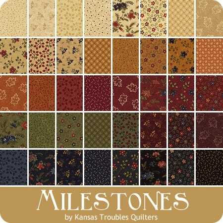 Milestones Charm Pack - Kansas Trouble Quilters 752106412774