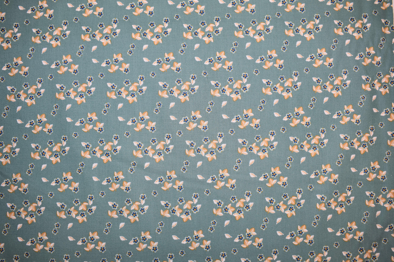 Flowers Blue Background - Berry Blossom - Camelot Fabrics N9CEJLSJ