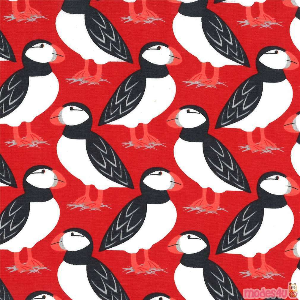 Red Puffins - Michael Miller 5JM5YJER