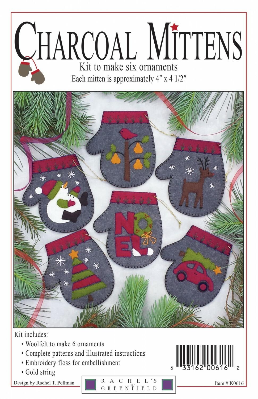 Charcoal Mittens Ornament Kit Z9APPQEN