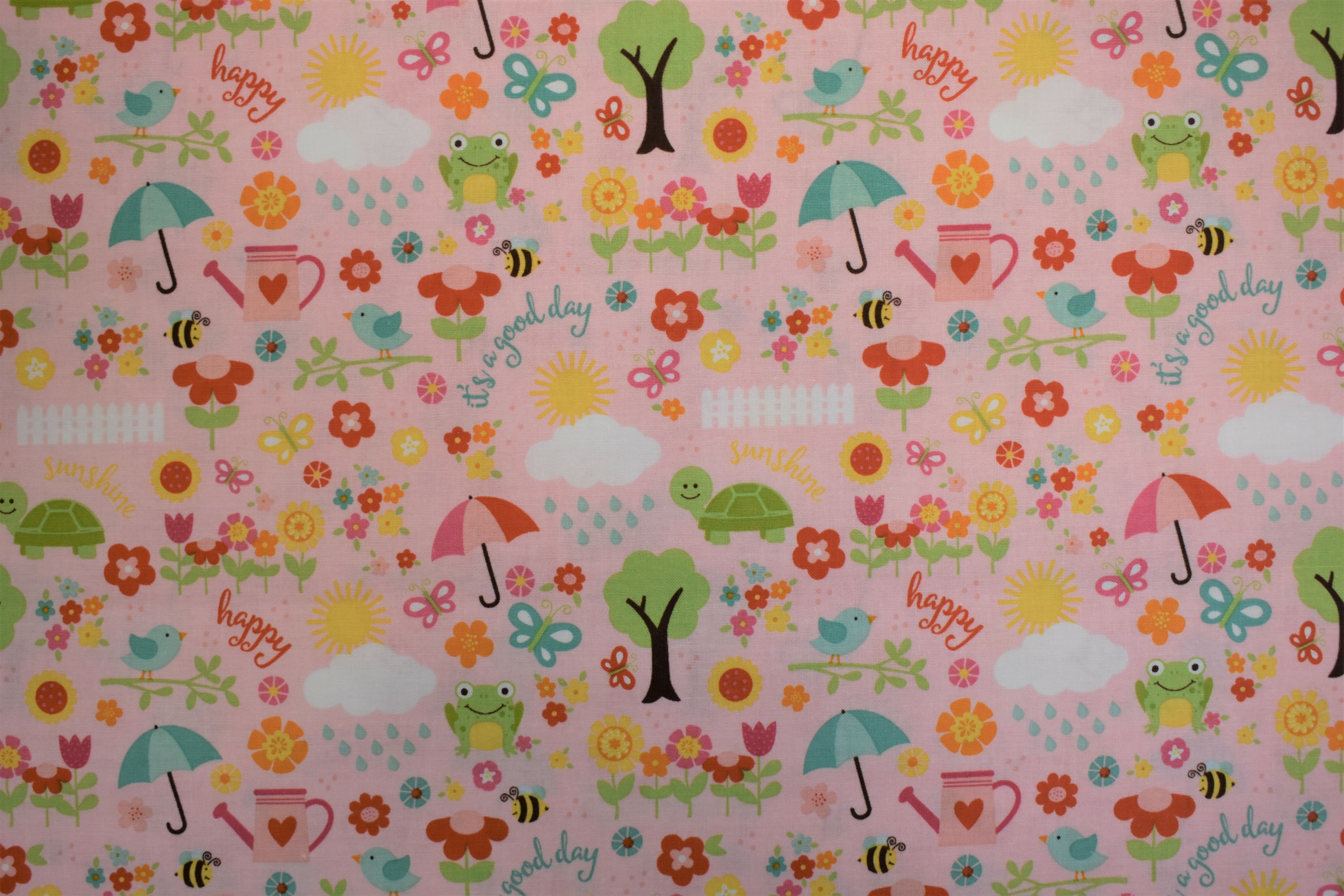 Animals Pink Background - Bloom Where You're Planted - Riley Blake Designs EEVJ5NF2