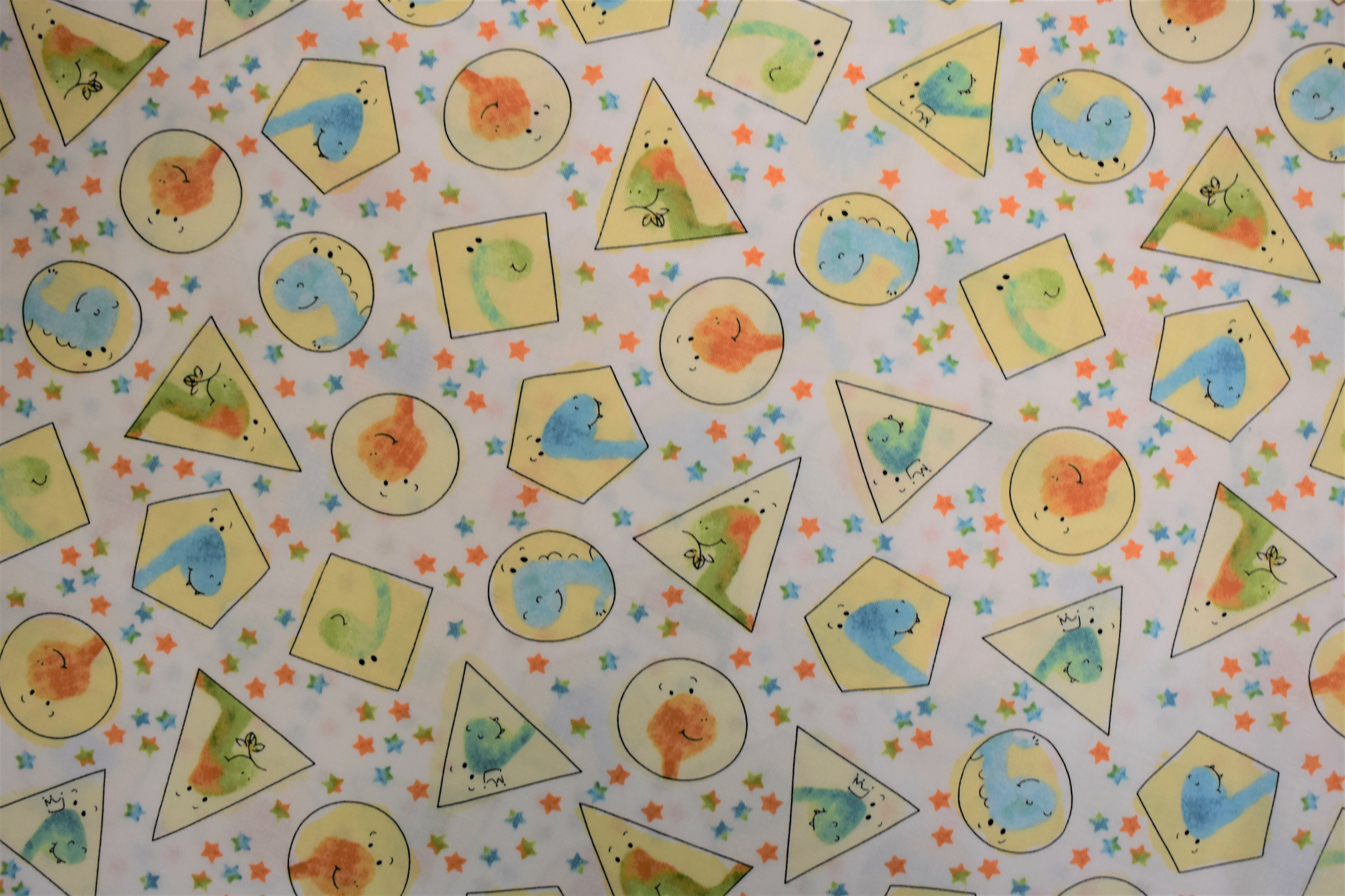 Dino-Mite Dinosaurs in Shapes - Quilting Treasures L1KN3FM9