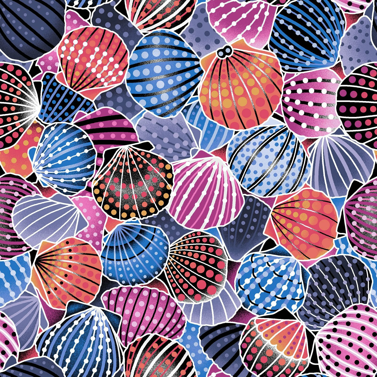 Sea Shells - Way Under by Oasis Fabrics LG31B9XK