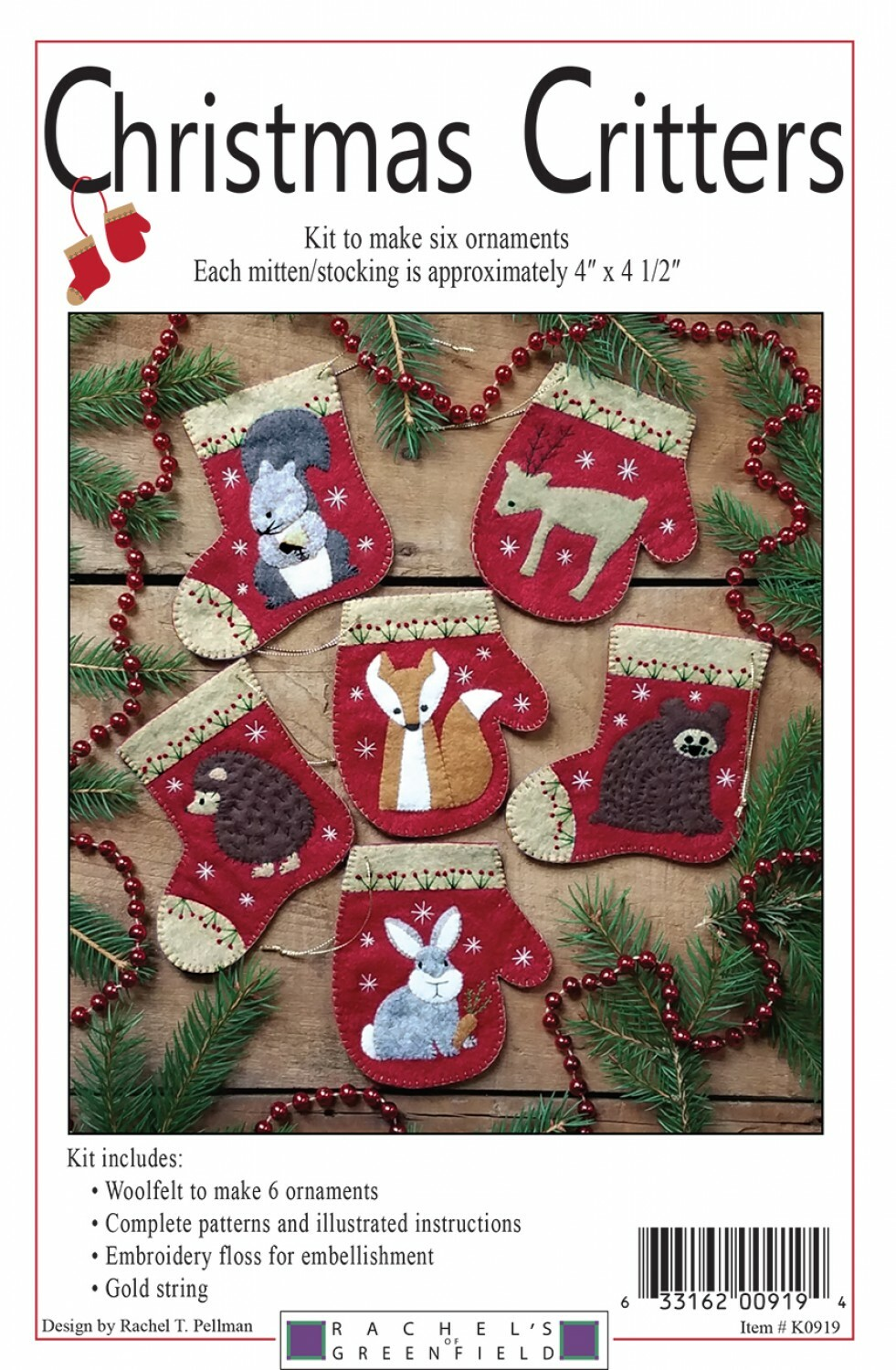 Christmas Critters Ornament Kit 10983