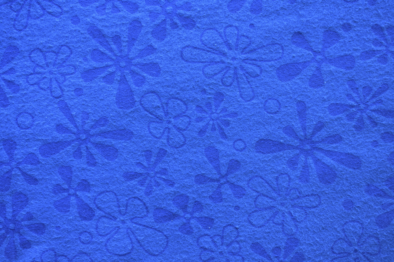 """Flannel 108"""" - Blue Flowers KPK3DUMZ"""