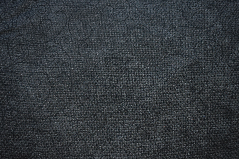 "Cotton 108"" - Black Swirls CWSRE1D4"