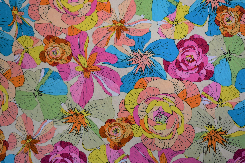 Junebee Thalia - Large Colorful Flowers - Ink & Arrow 55014