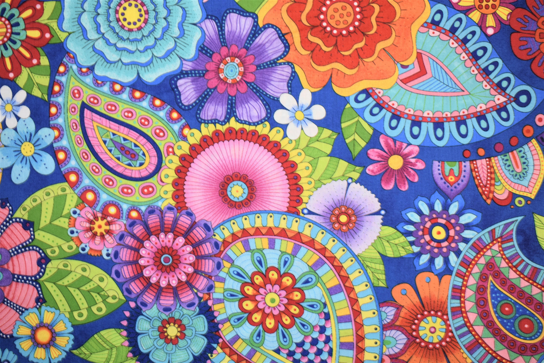 Live Out Loud - Large Paisley/Flowers - Wilmington Prints 55004