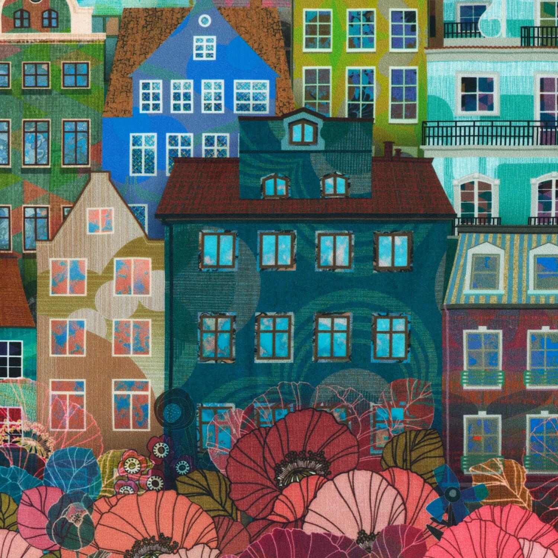 Happy Place - Day Buildings - 1/2m cut 55428