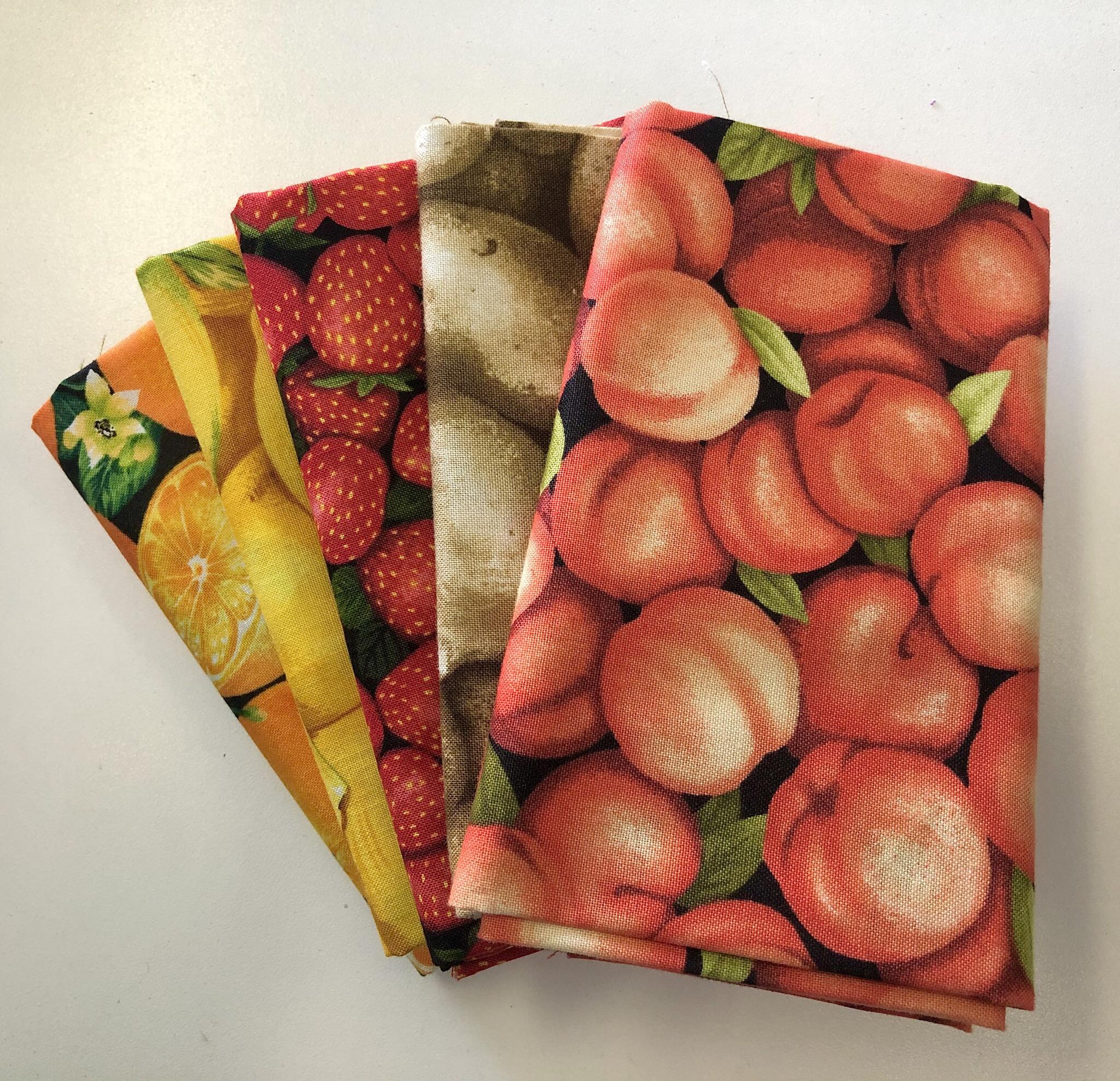 Fruit And Veggie Fat Quarter Bundle