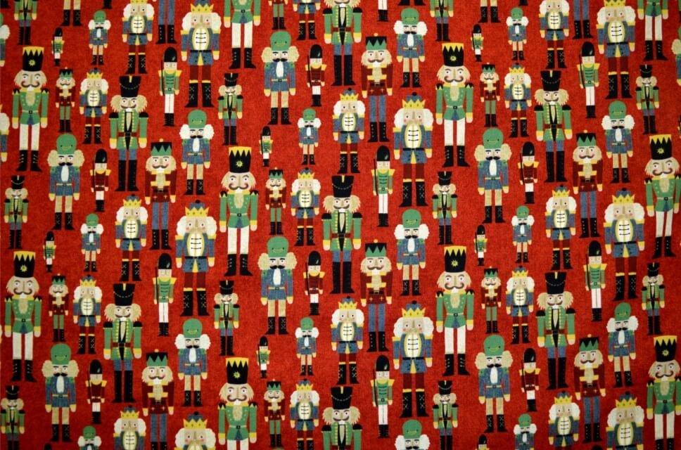 Fat 1/4 - Winter Village, Red Nutcrackers - Moda 25205