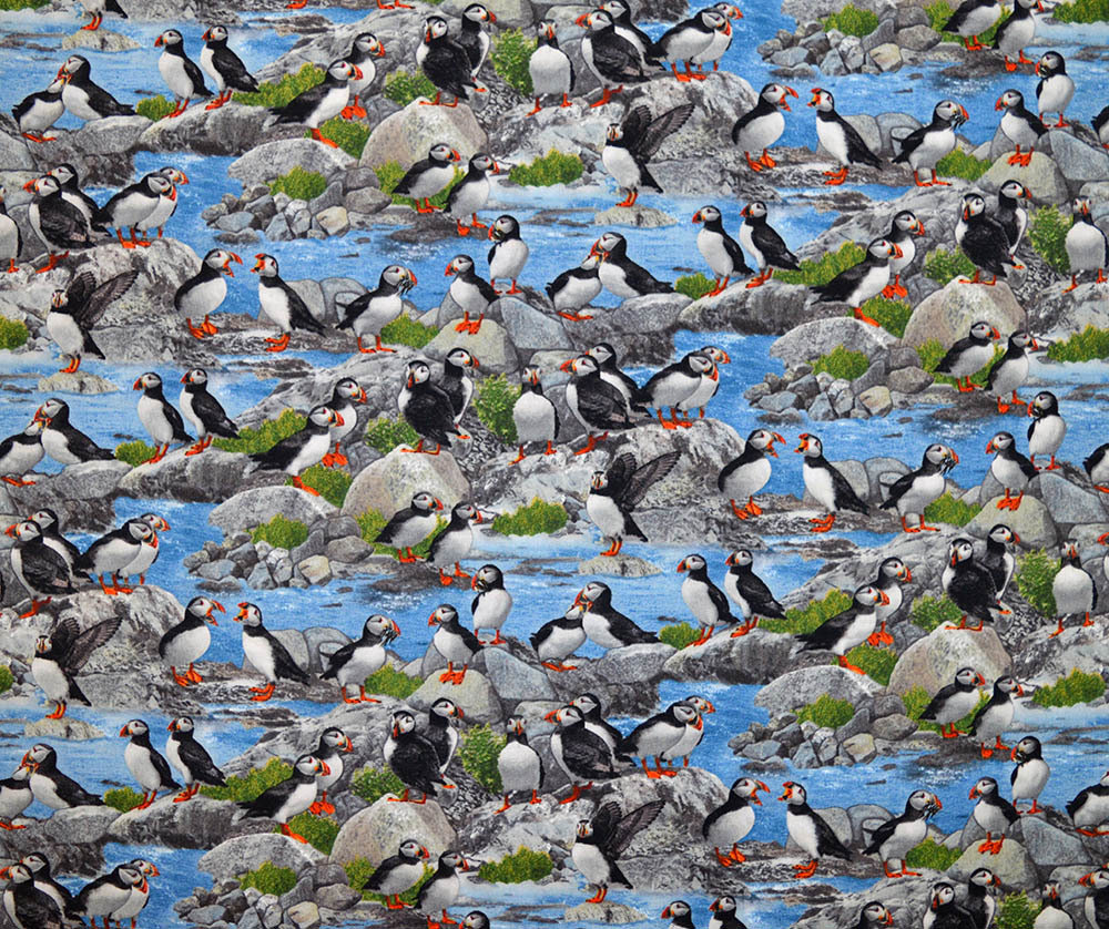 Fat Quarter - Puffin Print 1056