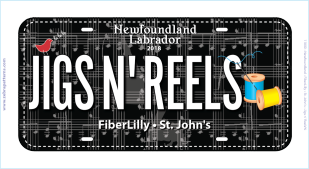 Fabric Licence Plate 2018 - Jiggs and Reels 1254