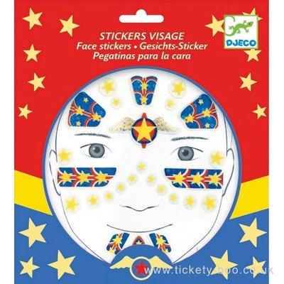 Face Stickers Superhero