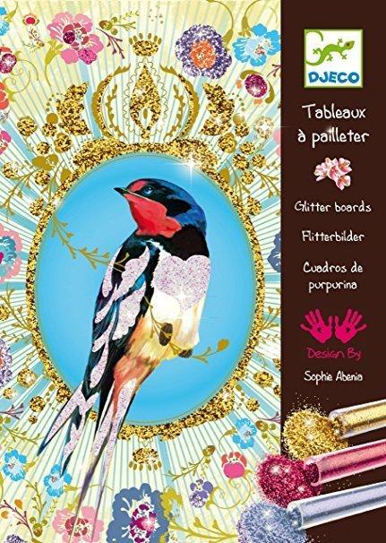Glitter Board Bird Cards