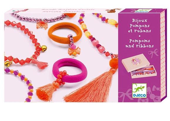 Jewels Pompoms Pink