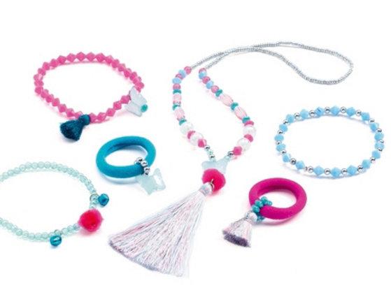 Jewels Pompons Blue