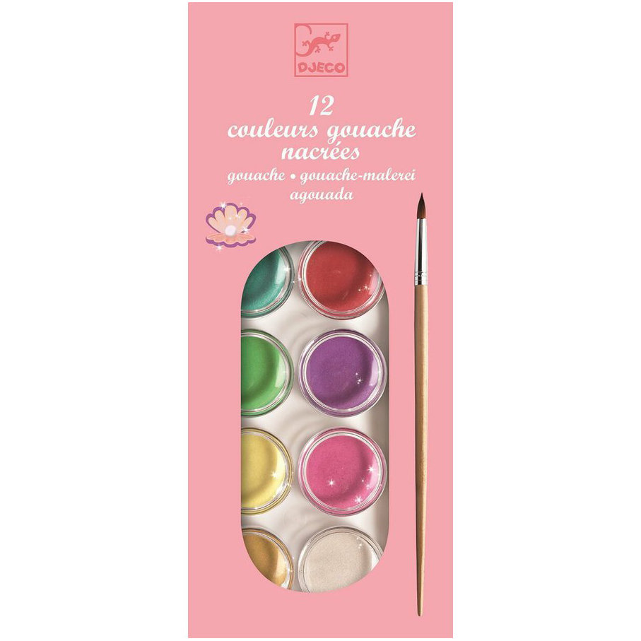 12 Pearlescent Gouaches